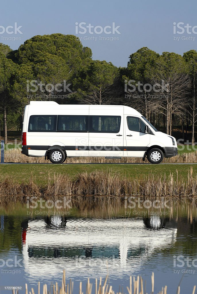 Mini Van by The Lake royalty-free stock photo