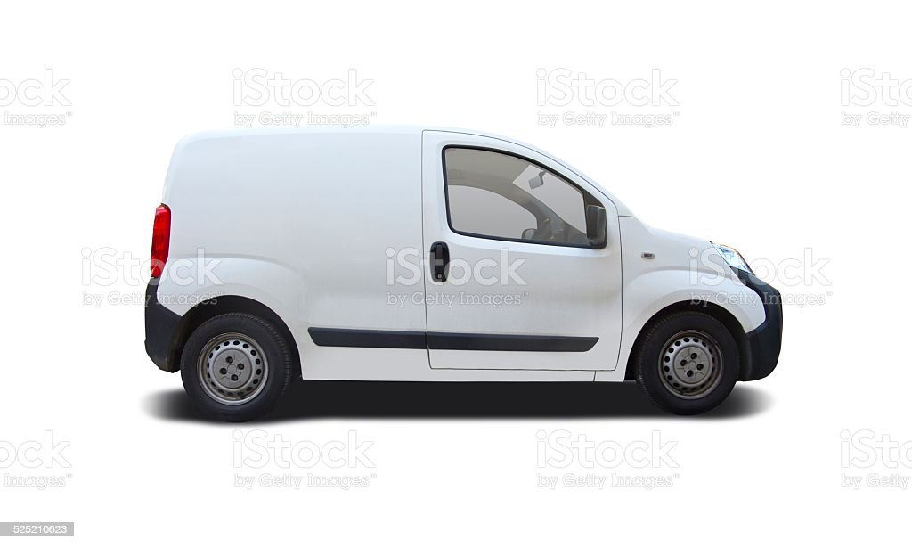Mini van Ready For Branding stock photo