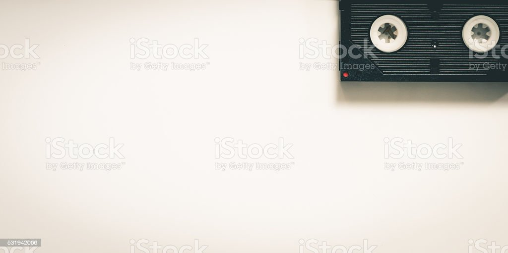 Mini videotape Home Video background stock photo