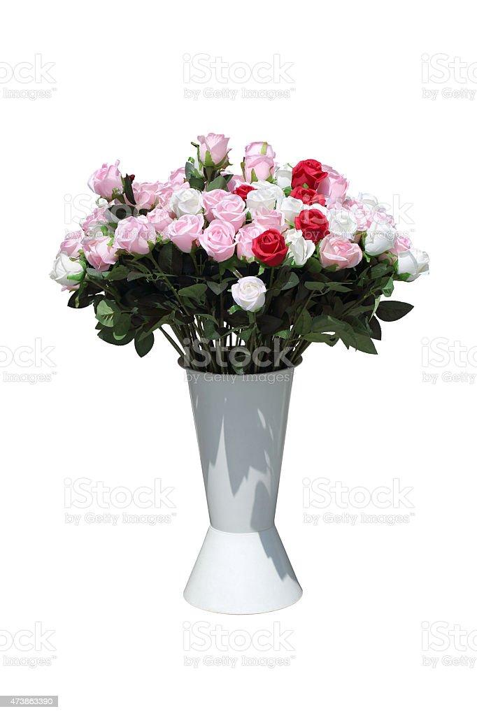 Miniascape of roses stock photo