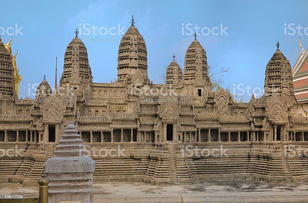 Miniature Angkor Wat royalty-free stock photo