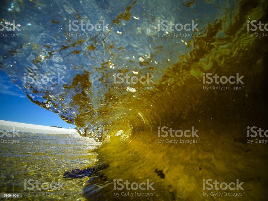 Miniature Barrel Wave stock photo