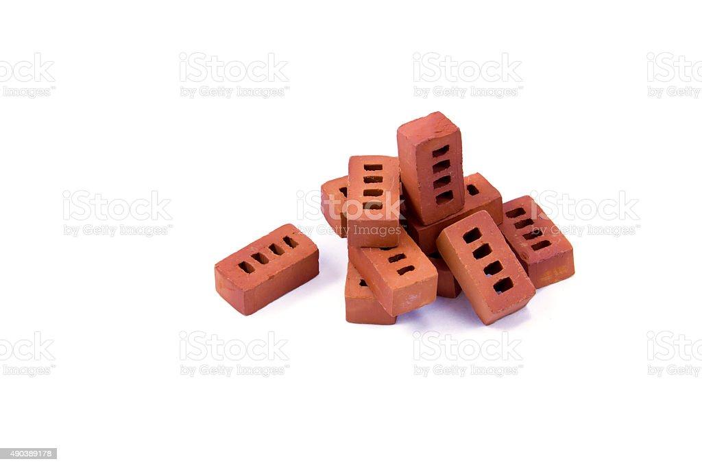 miniature bricks stock photo