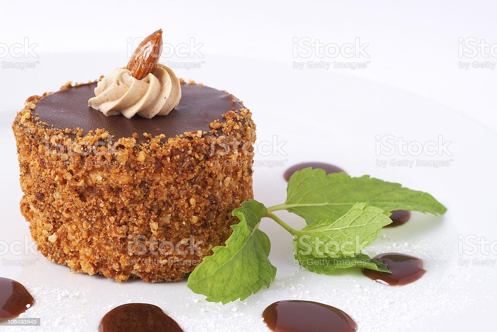Miniature chocolate cake royalty-free stock photo