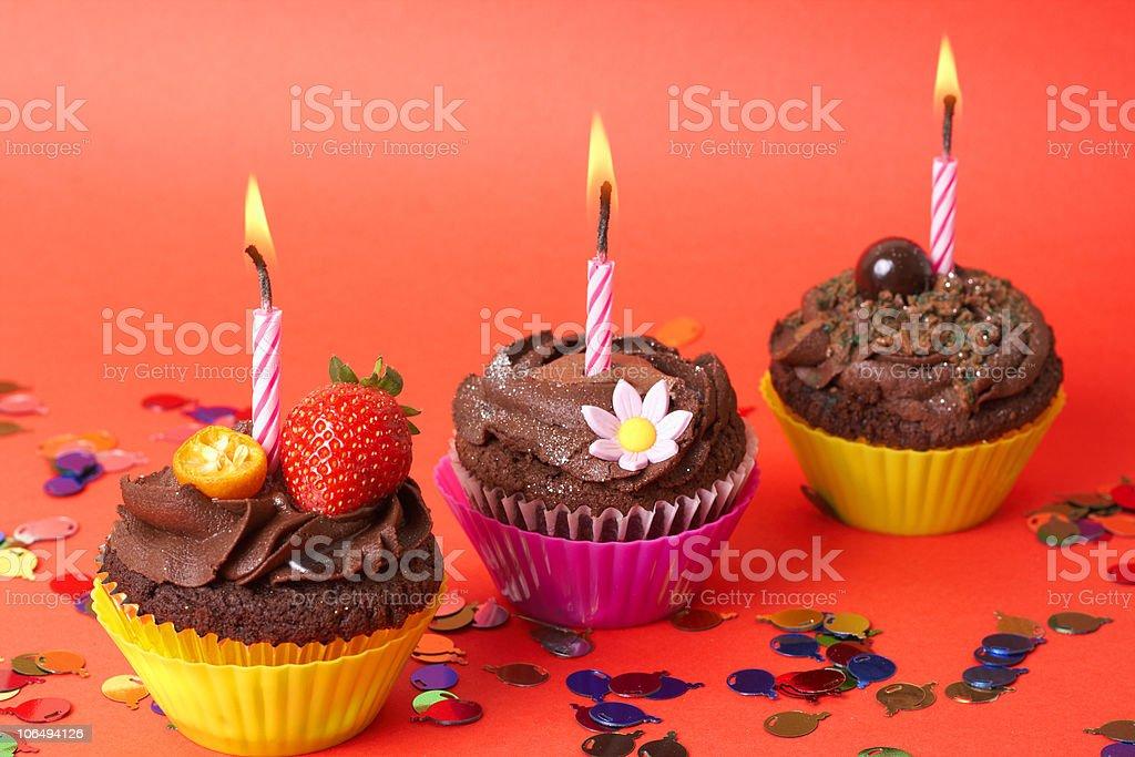 Miniature chocolate cupcakes royalty-free stock photo