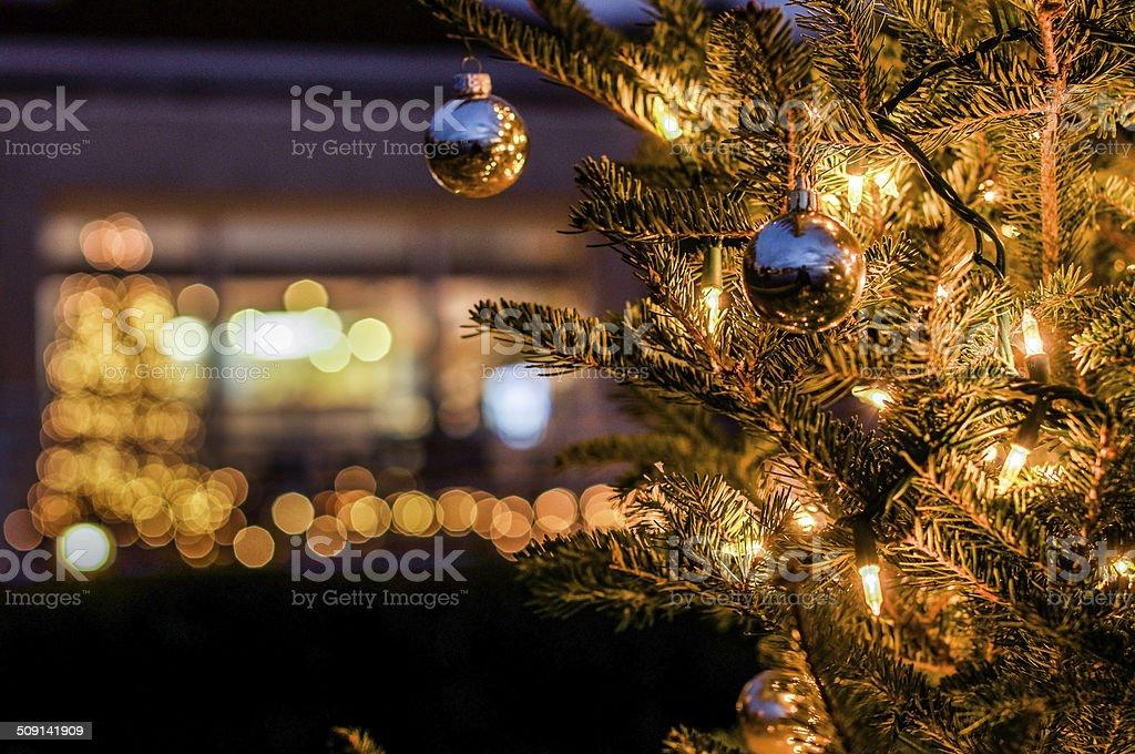 Miniature Christmas Lights stock photo