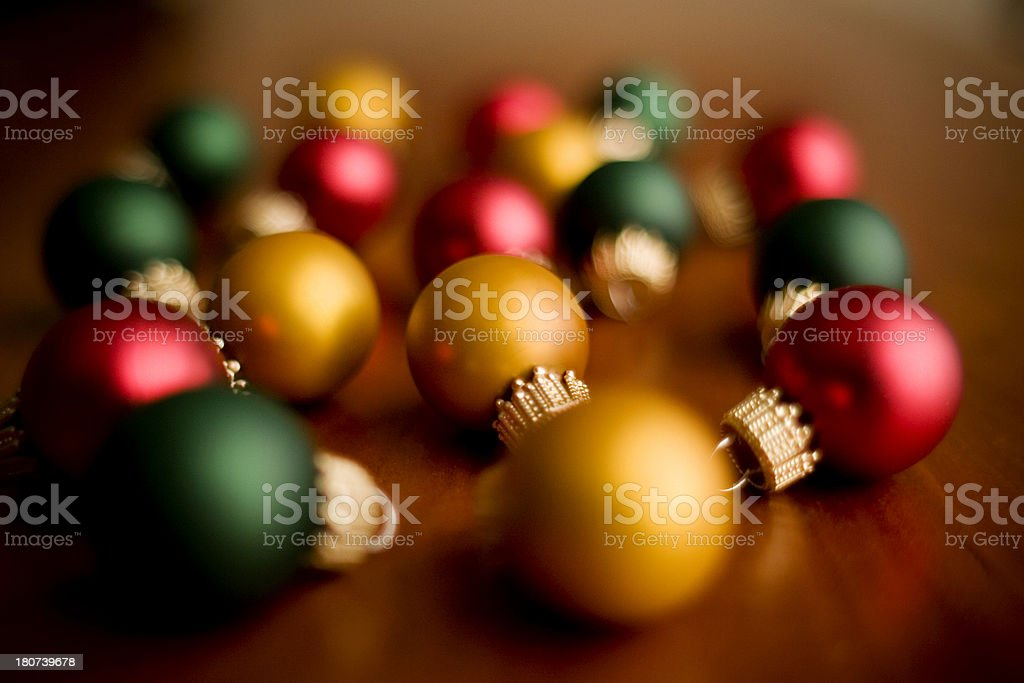 Miniature Christmas Ornaments stock photo
