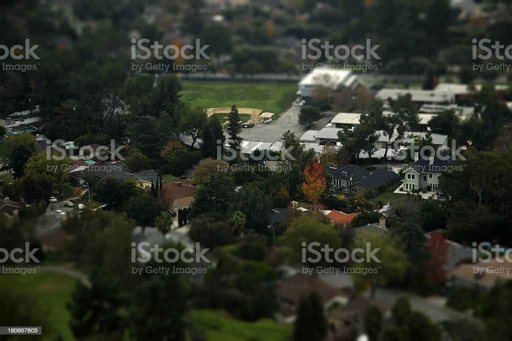 Miniature City royalty-free stock photo
