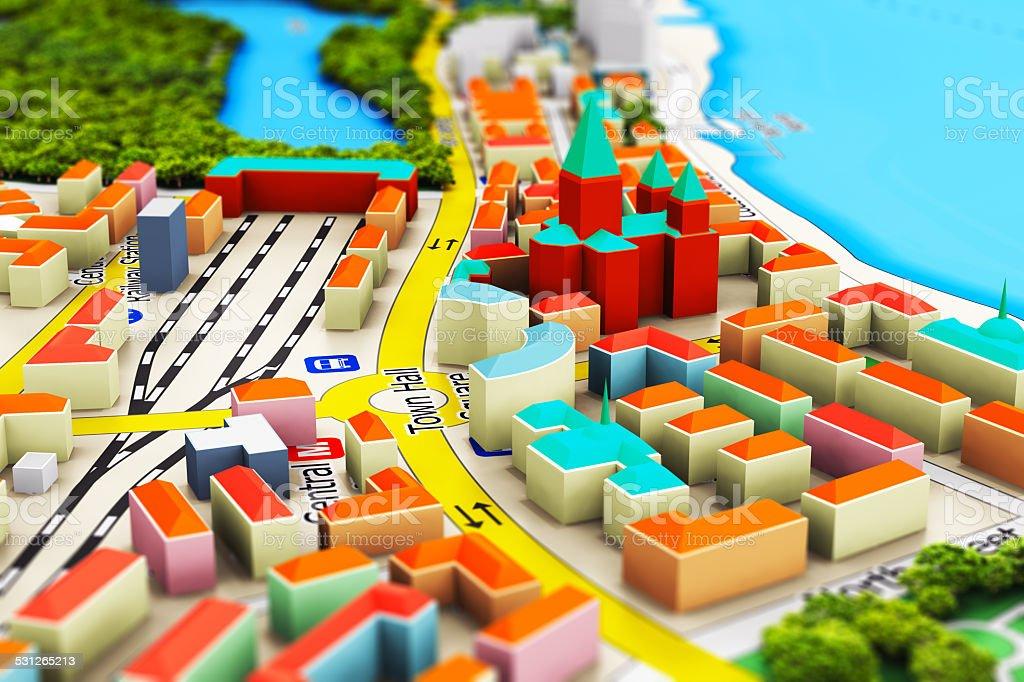 Miniature city stock photo
