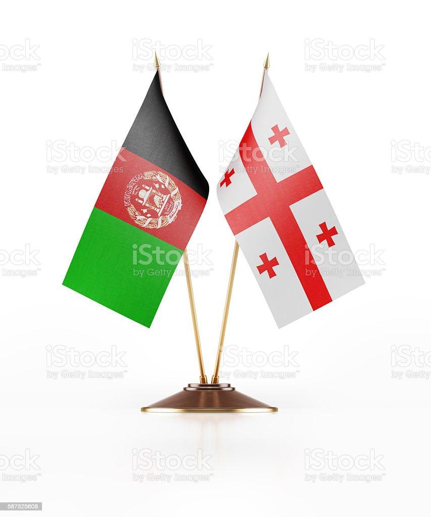 Miniature Flag of Afghanistan and Georgia stock photo