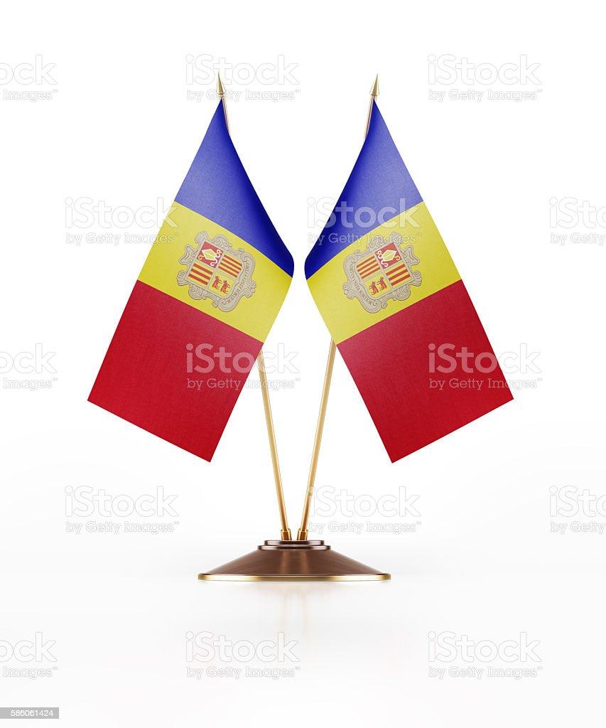 Miniature Flag of Andorra stock photo