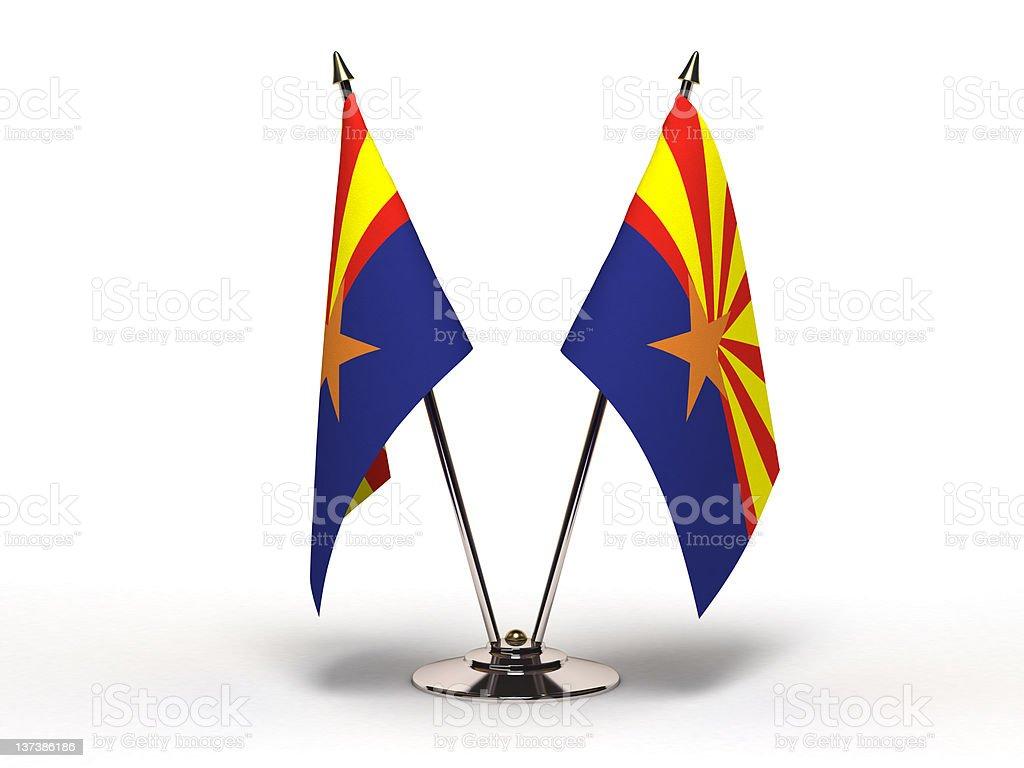 Miniature Flag of Arizona (Isolated) stock photo