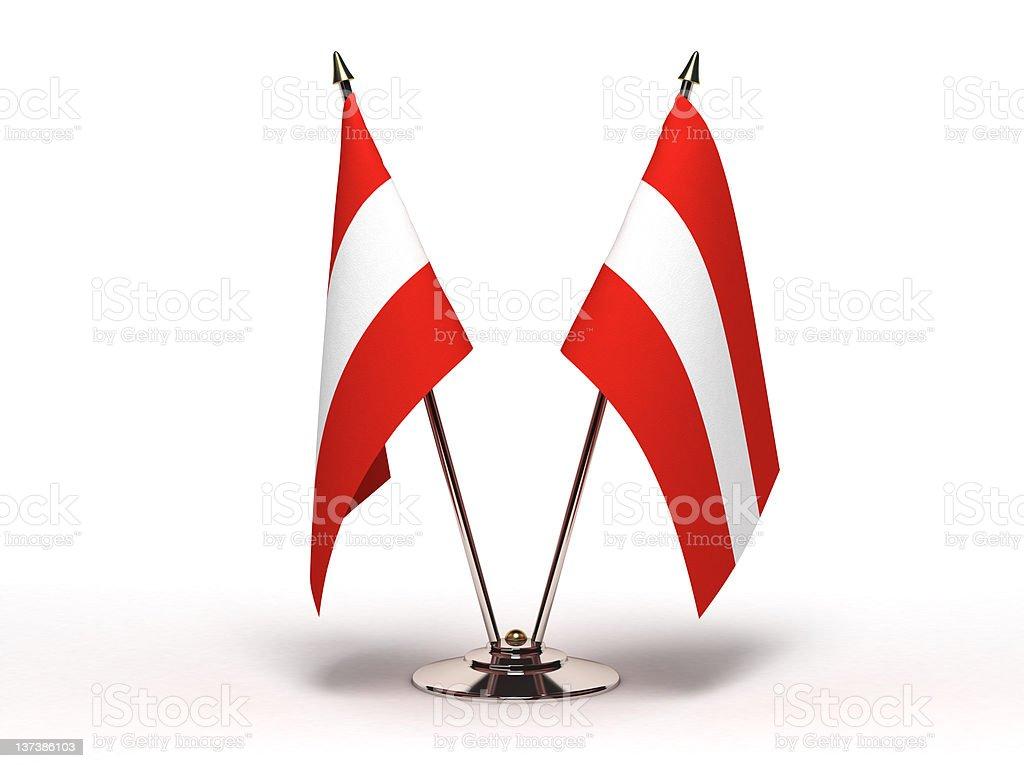 Miniature Flag of Austria (Isolated) royalty-free stock photo