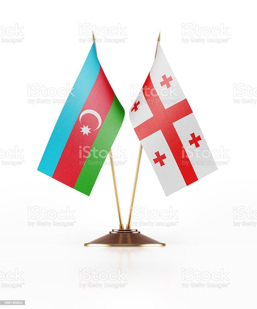 Miniature Flag of Azerbaijan and Georgia stock photo