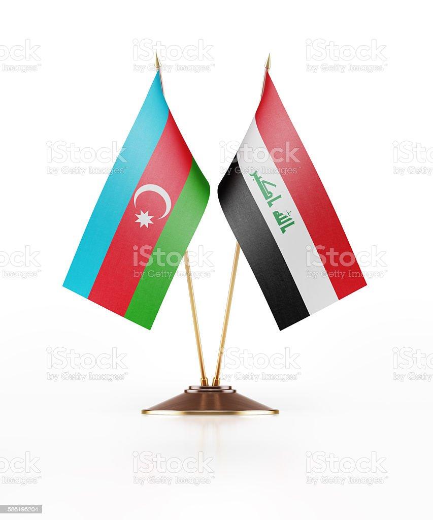 Miniature Flag of Azerbaijan and Iraq stock photo