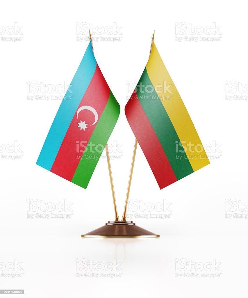 Miniature Flag of Azerbaijan and Lithuania stock photo