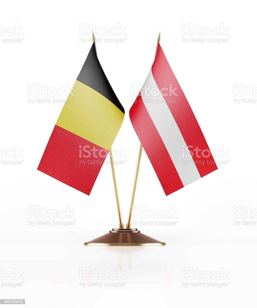 Miniature Flag of Belgium and Austria stock photo