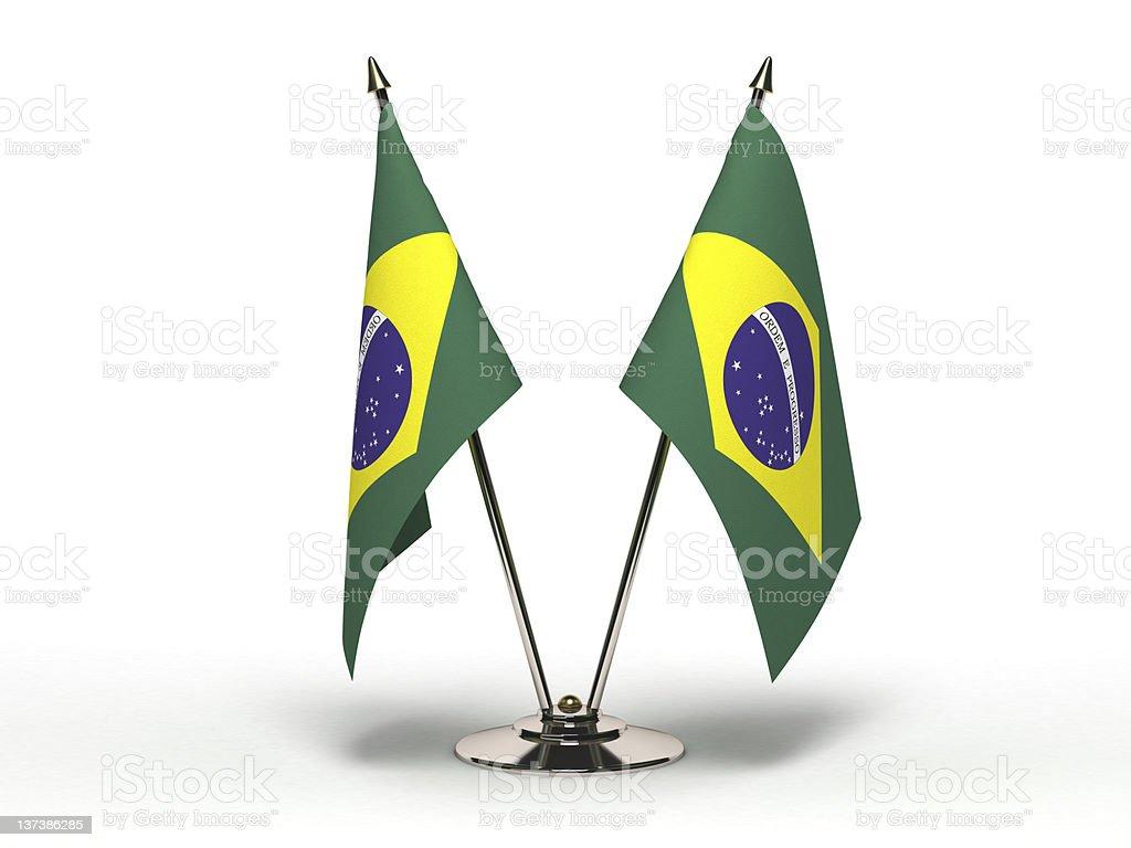 Miniature Flag of Brazil (Isolated) stock photo