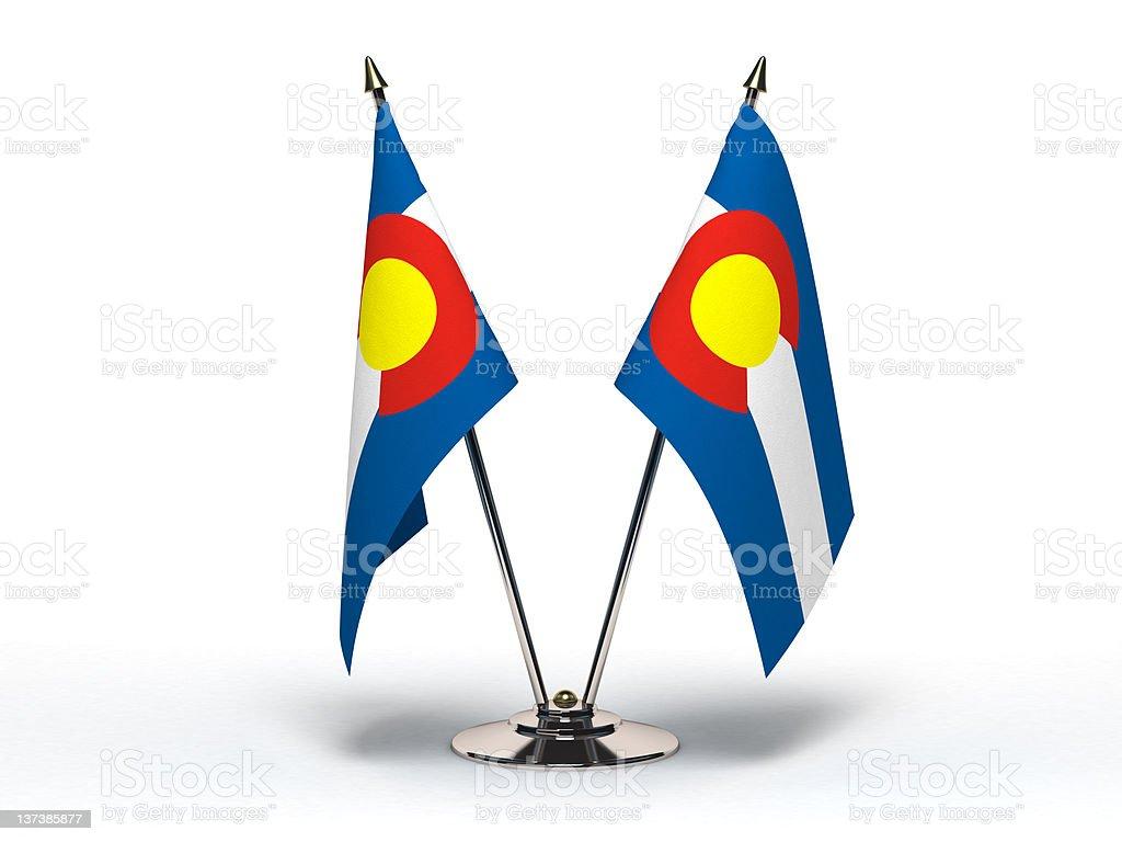 Miniature Flag of Colorado (Isolated) stock photo