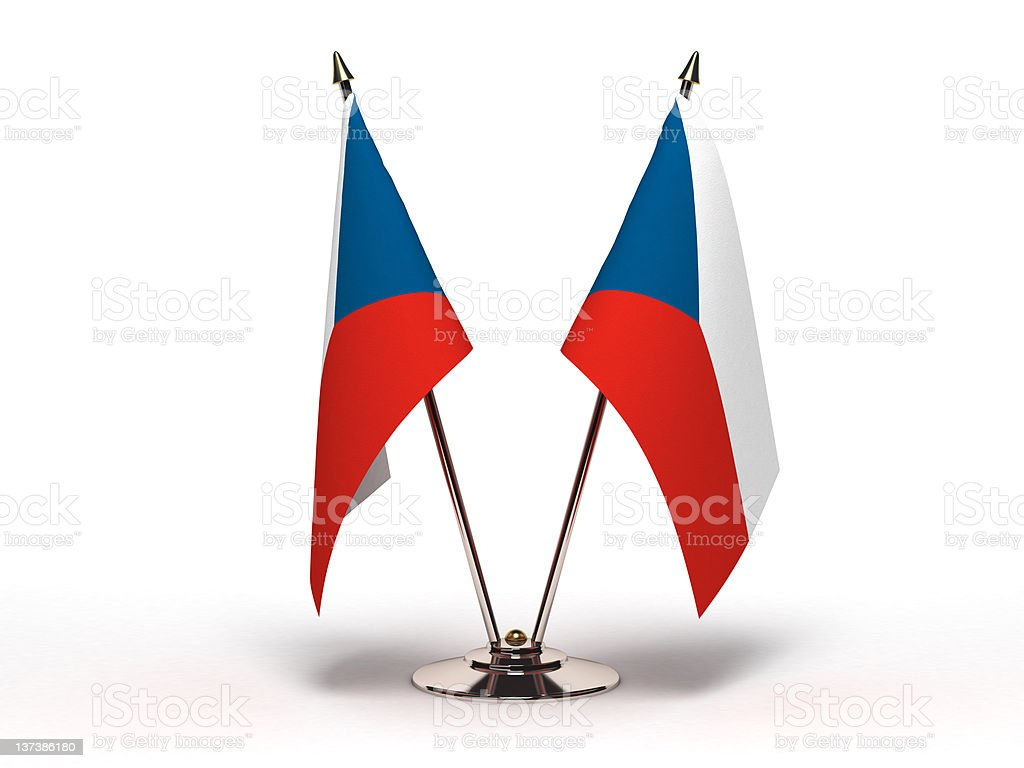 Miniature Flag of Czech Republic (Isolated) royalty-free stock photo