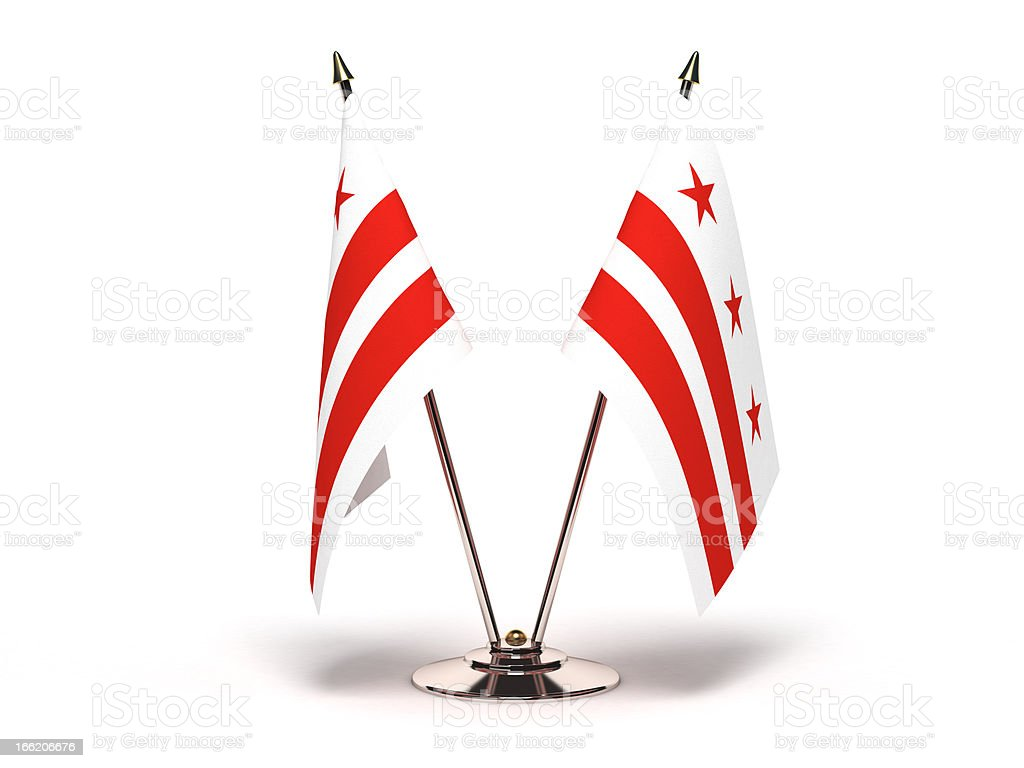 Miniature Flag of District Columbia stock photo