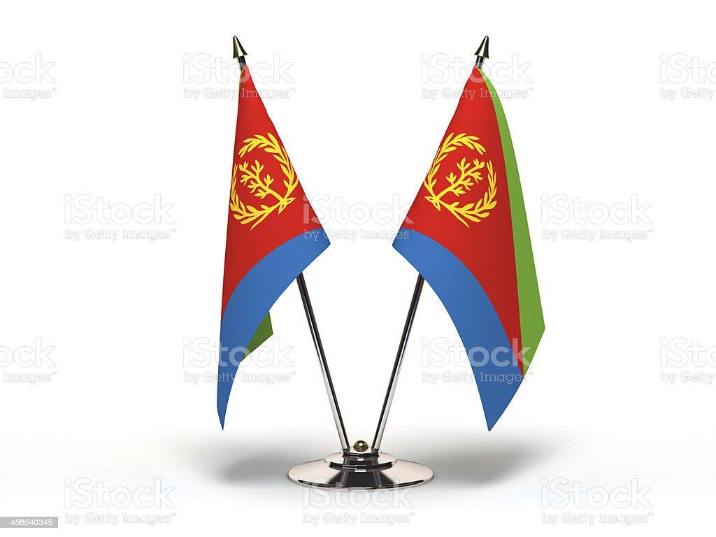 Miniature Flag of Eritrea stock photo
