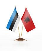 Miniature Flag  of Estonia and Albania