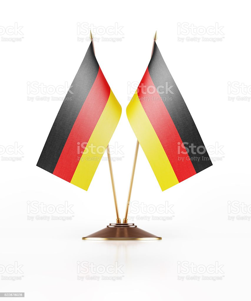 Miniature Flag of Germany stock photo
