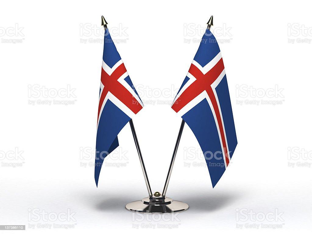 Miniature Flag of Iceland (Isolated) stock photo