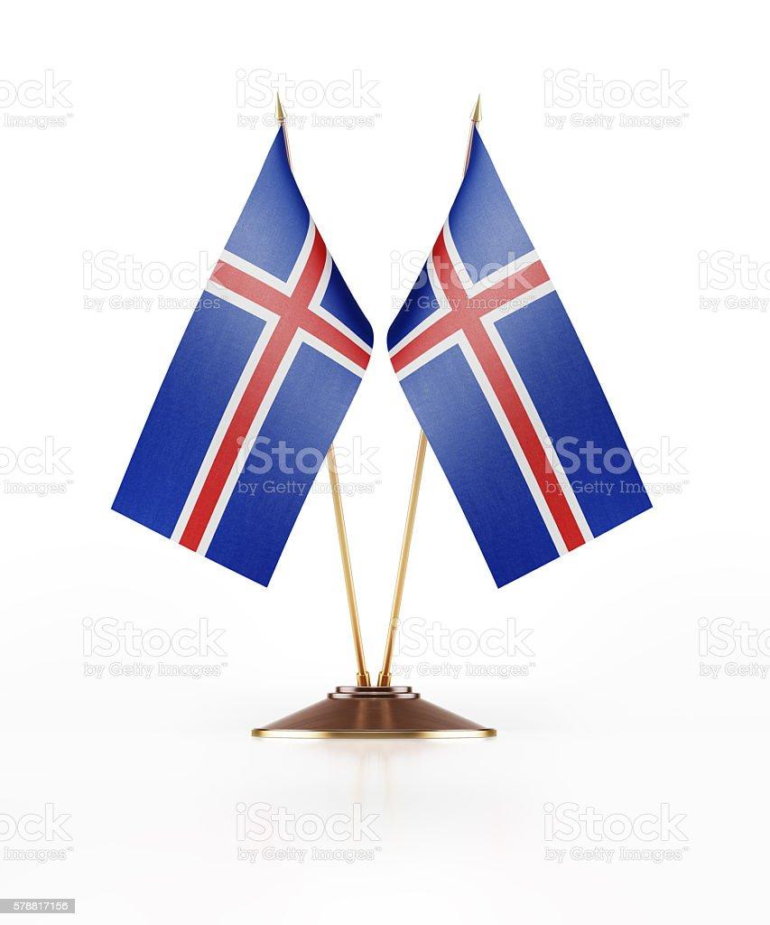 Miniature Flag of Iceland stock photo