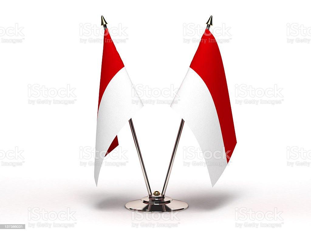 Miniature Flag of Indonesia (Isolated) stock photo