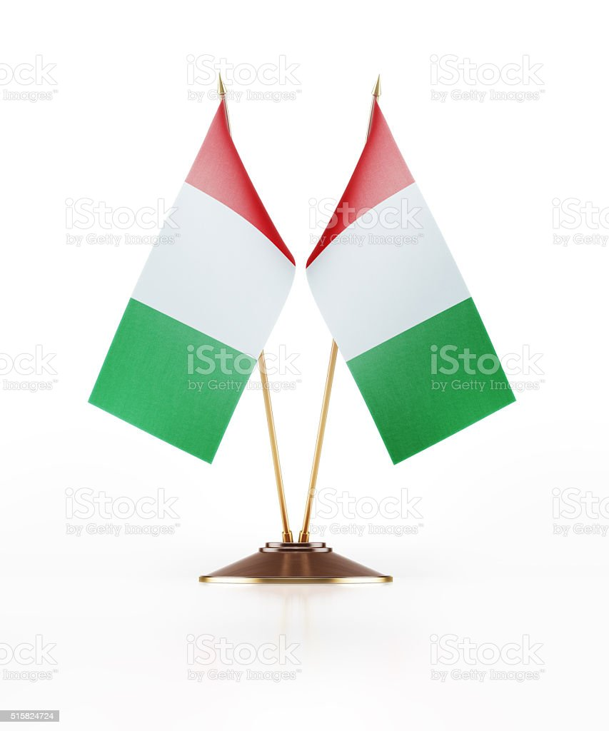 Miniature Flag of Italy stock photo