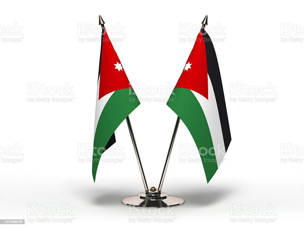Miniature Flag of Jordan (Isolated) stock photo