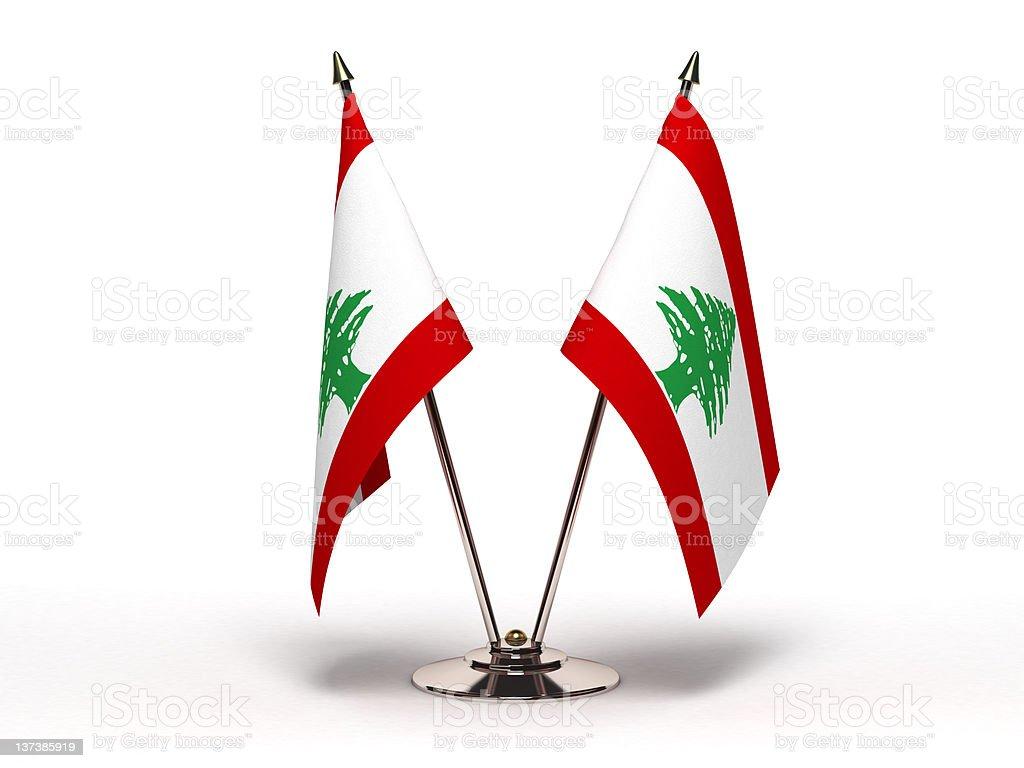 Miniature Flag of Lebanon (Isolated) royalty-free stock photo