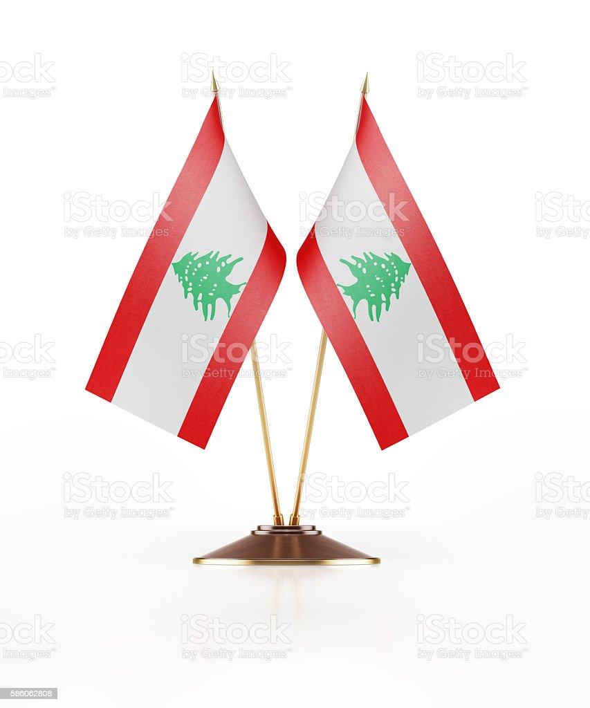 Miniature Flag of Lebanon stock photo
