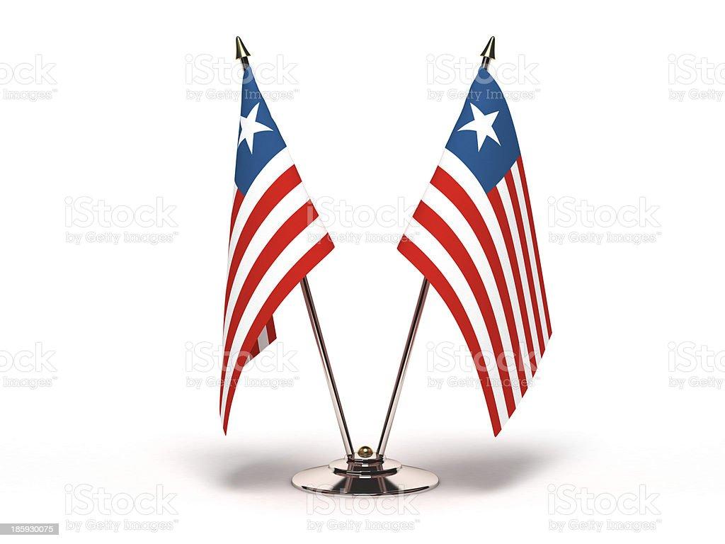 Miniature Flag of Liberia royalty-free stock photo
