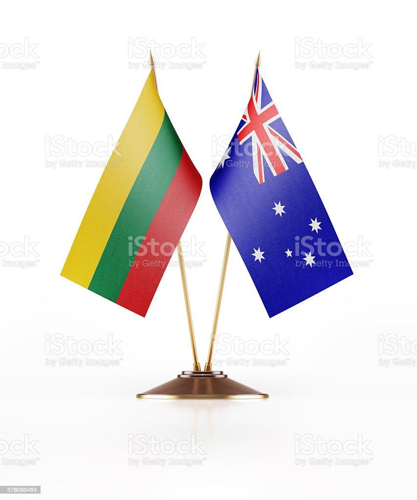 Miniature Flag of Lithuania and Australia stock photo