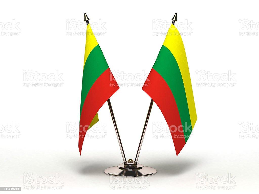 Miniature Flag of Lithuania  (Isolated) stock photo