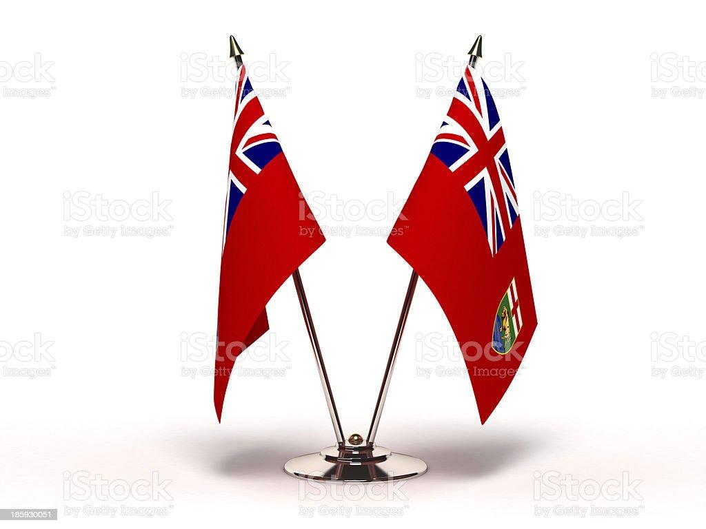 Miniature Flag of Manitoba stock photo