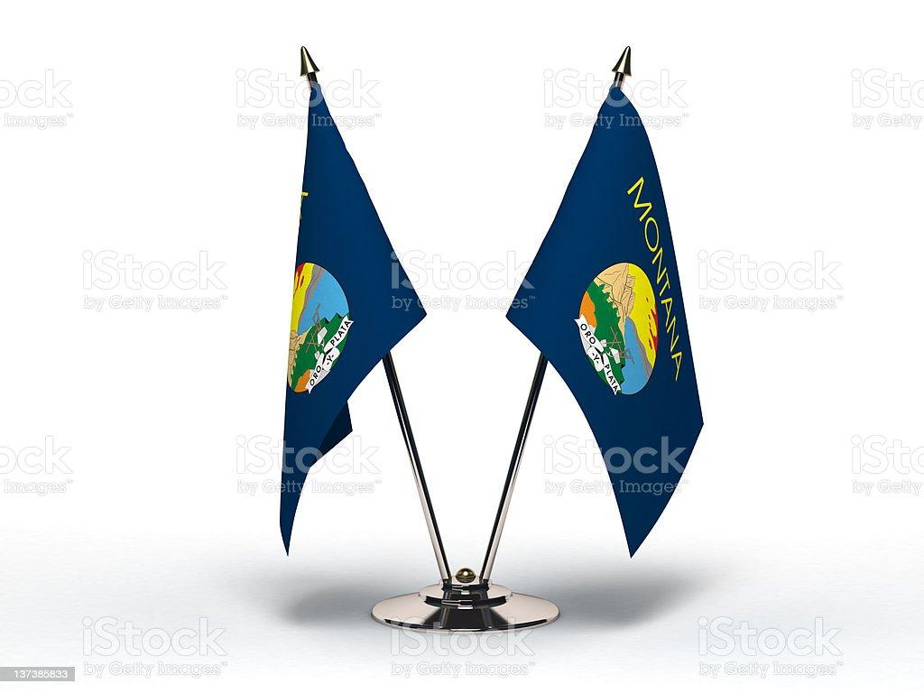Miniature Flag of Montana (Isolated) stock photo