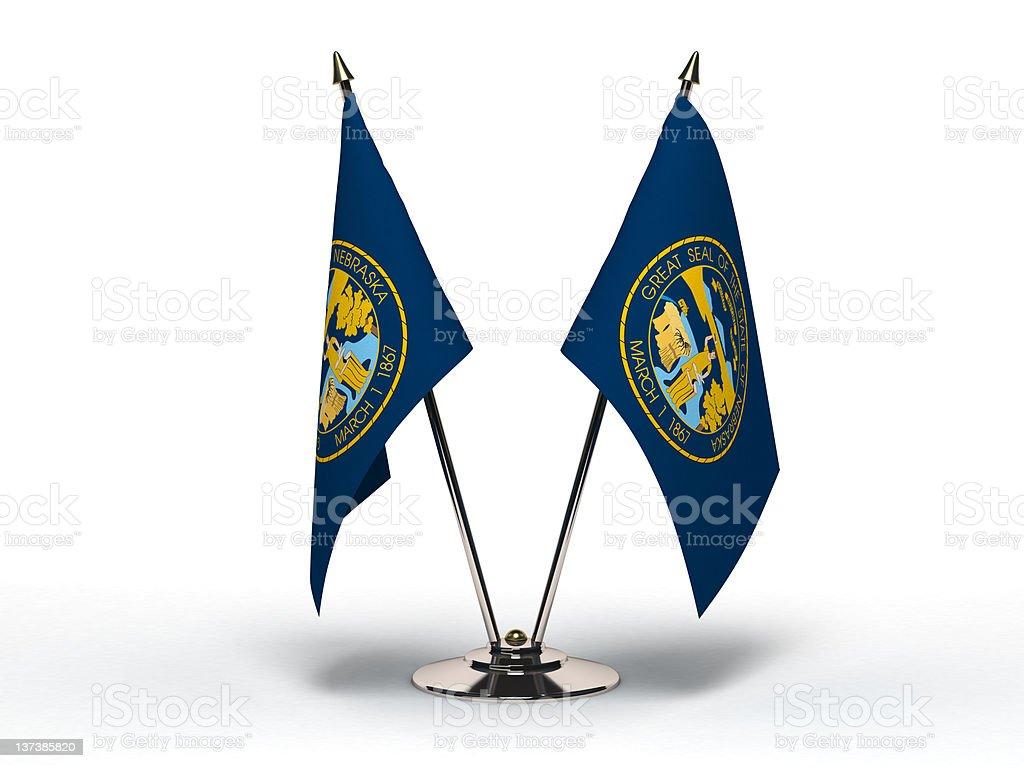 Miniature Flag of Nebraska (Isolated) royalty-free stock photo