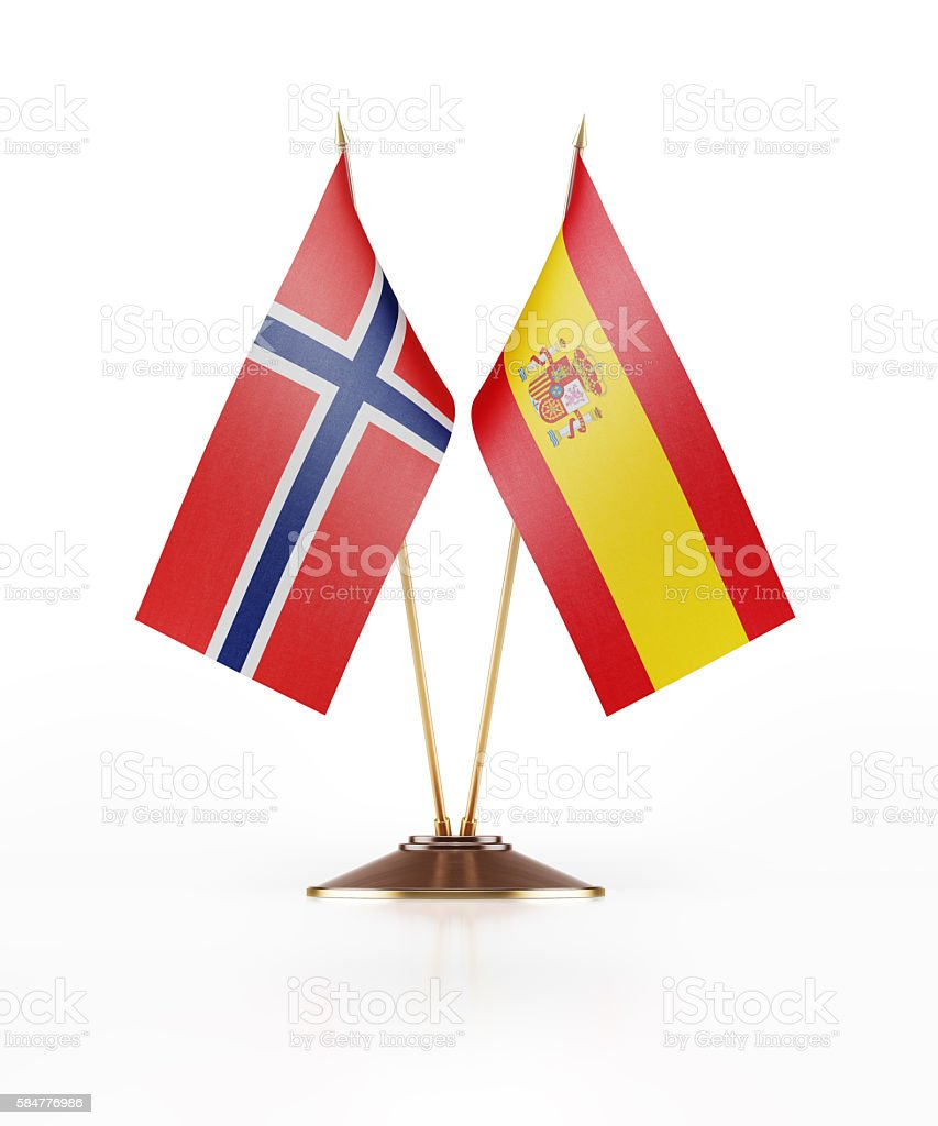 miniature flag of norway and spain stock photo 584776986 istock