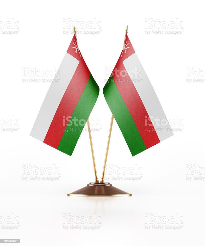 Miniature Flag of Oman stock photo