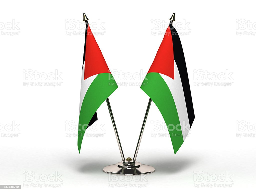 Miniature Flag of Palestine  (Isolated) stock photo