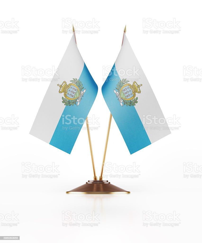 Miniature Flag of San Marino stock photo