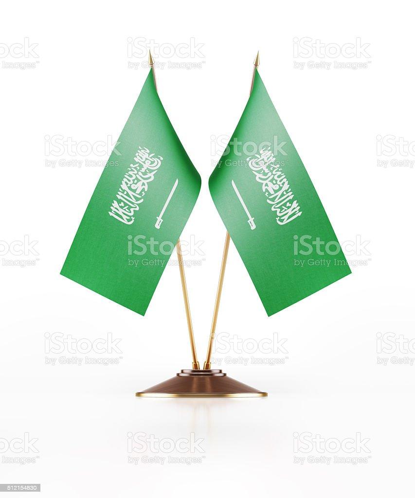 Miniature Flag of Saudi Arabia stock photo