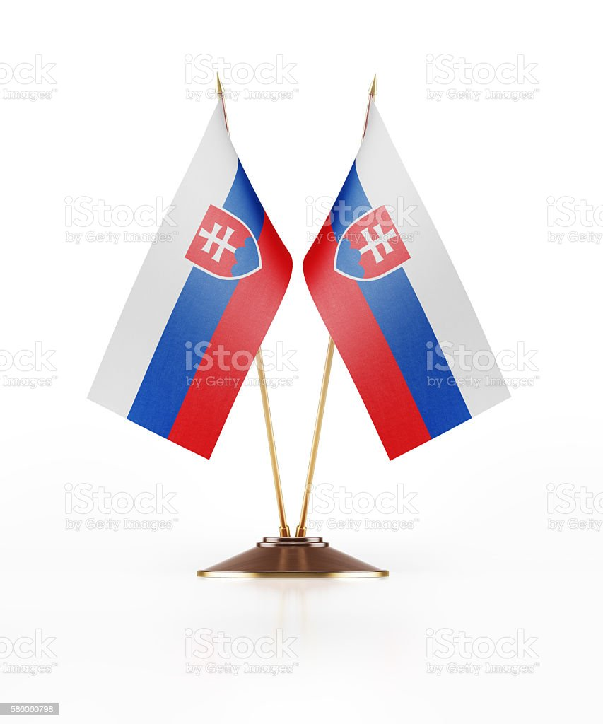 Miniature Flag of Slovakia stock photo