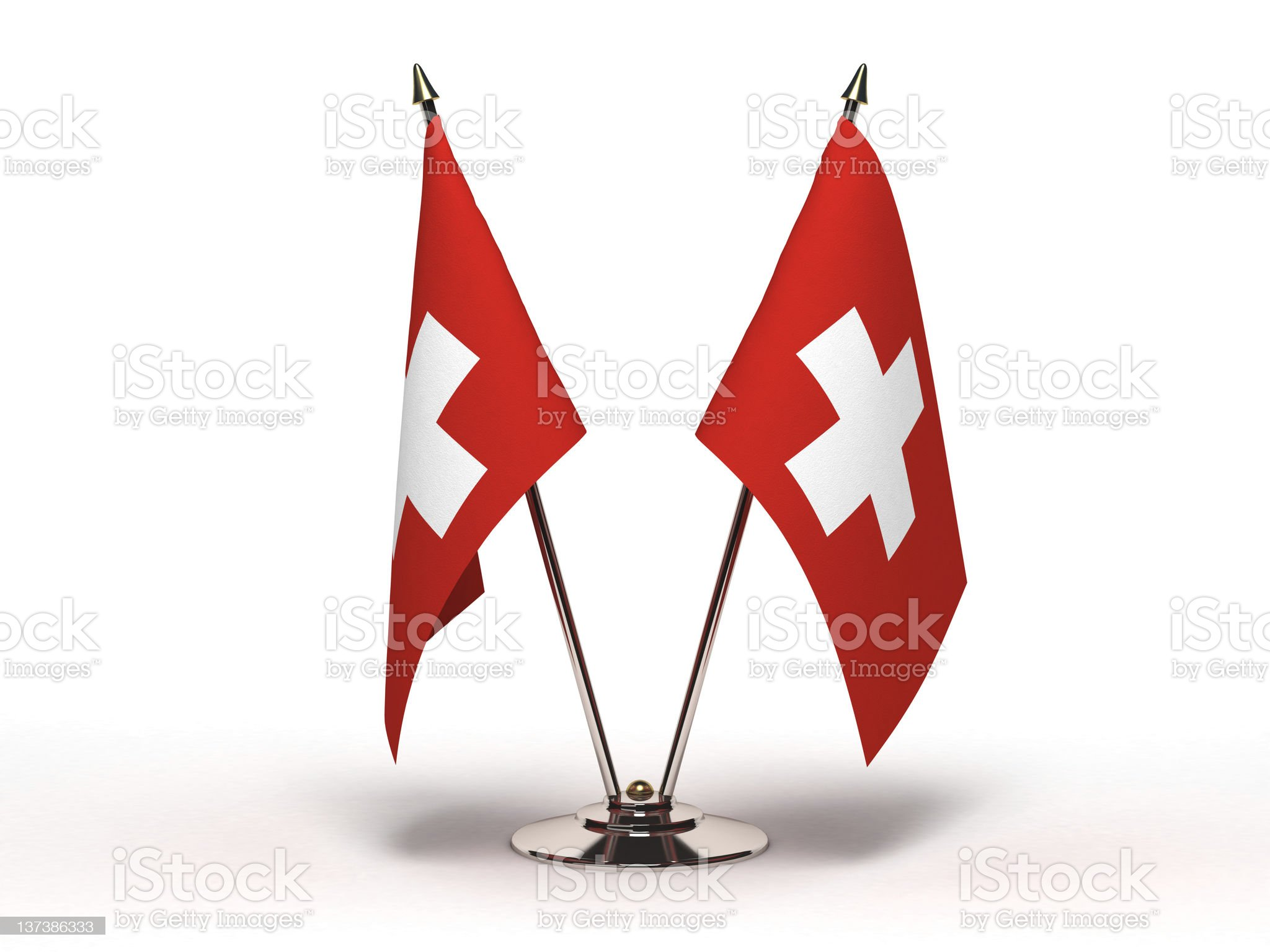 Miniature Flag of Switzerland (Isolated) royalty-free stock photo