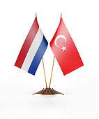 Miniature Flag  of Turkey and Holland
