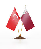 Miniature Flag  of Turkey and Qatar